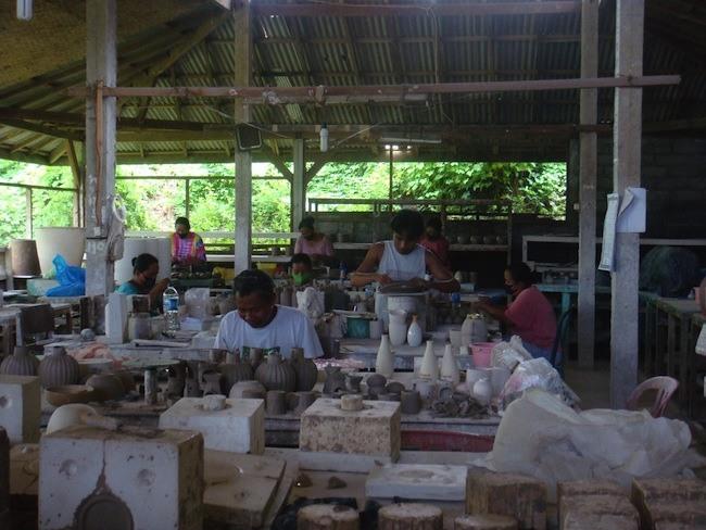 handmade pottery village bali
