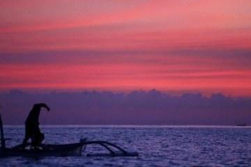 Pink sunset in Seminyak