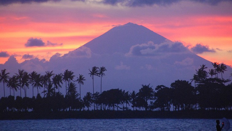 Mount Agung at sunset