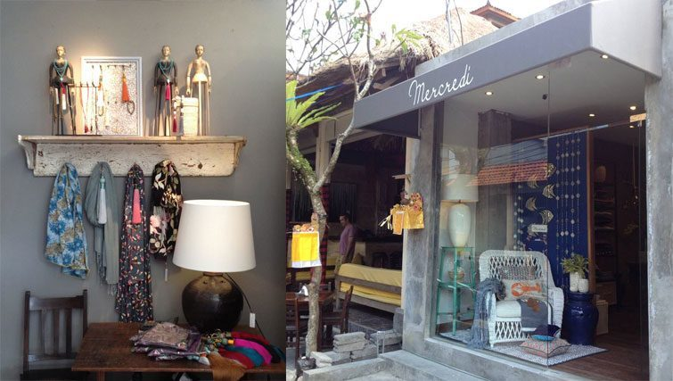 Mercredi Bali designer homeware shop