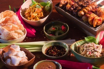 Home style Indonesian food at Bambu Bali restaurant in Nusa Dua