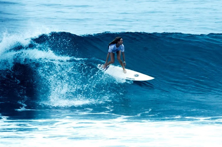 Riding the ultimate wave in Bali.