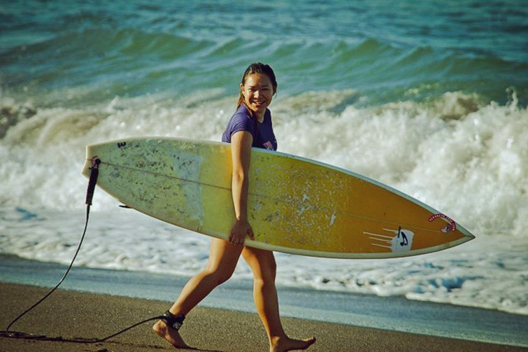 Beginners and kid surfer. Canggu Surf School (Echo Beach)