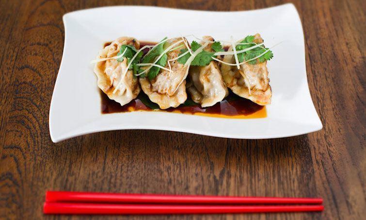 beef and bamboo dumplings