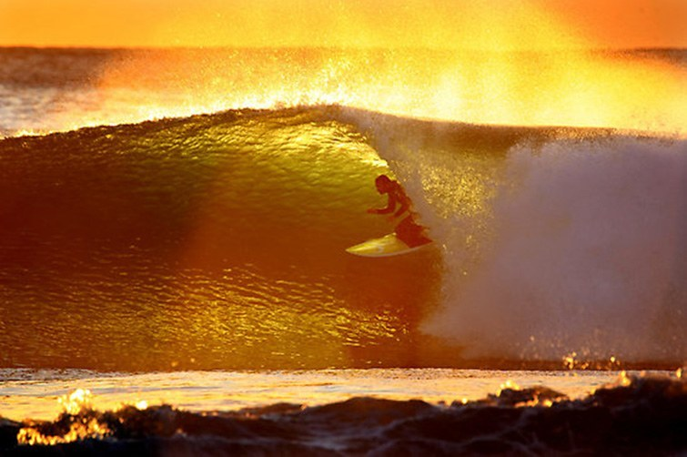Shot featured in surf film 'Morning of the Earth'.