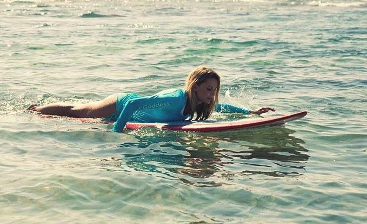 Surf Goddess participant at Surf Goddess Retreats