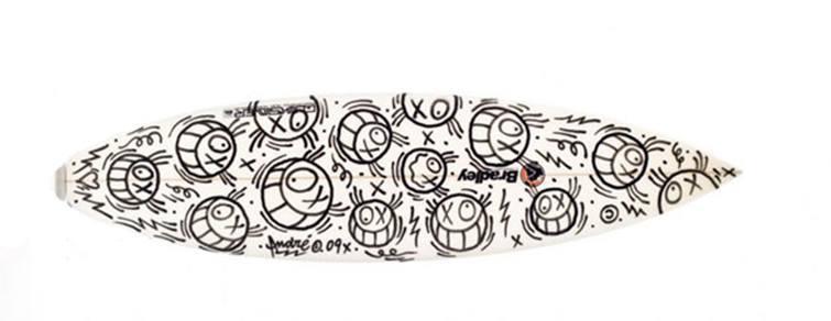 André graffiti artist hand painted Quicksilver board
