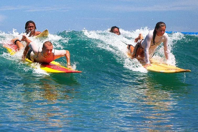Surf school at Kuta Beach