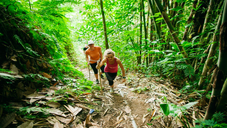 Trek and explore on Bali's natural surrounds. Image courtesy of Sharing Bali.
