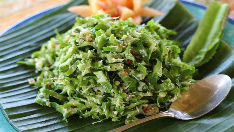 Greens coconut and sambal. Image courtesy of Sharing Bali.