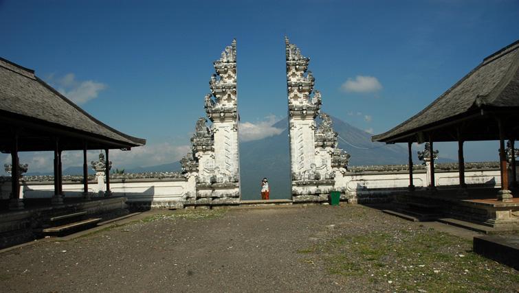 Gate at Lempuyang Temple, Tirta Gangga.