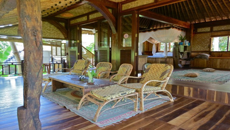 Veranda at Bali Eco Beach House