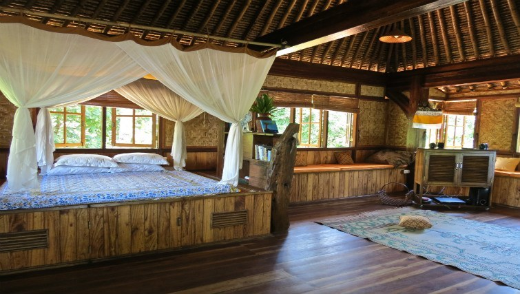 Interior of Bali Eco Beach House