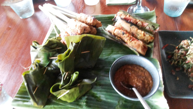 Meal at Bali Asli Restaurant