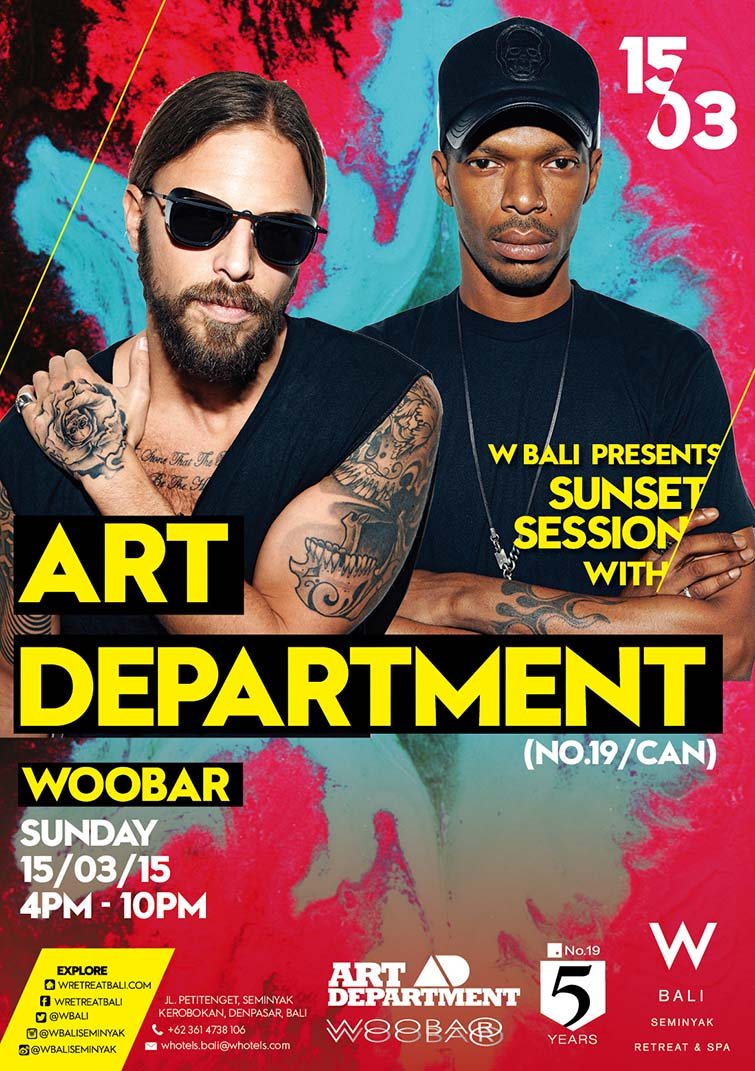 Art Department W Bali Sunset Session flyer