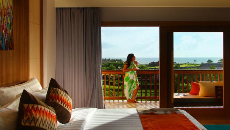 Ocean views of Kirana Bali Hotel