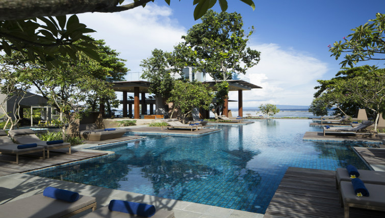 Poolside and beachfront at Maya Resort & Spa