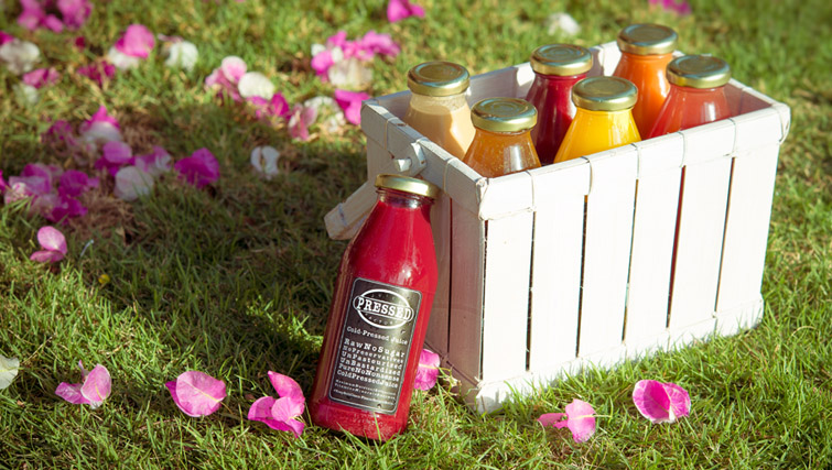 Fresh juices by Pressed Bali
