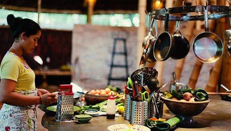 The kitchen of Dapoer at Bambu Indah