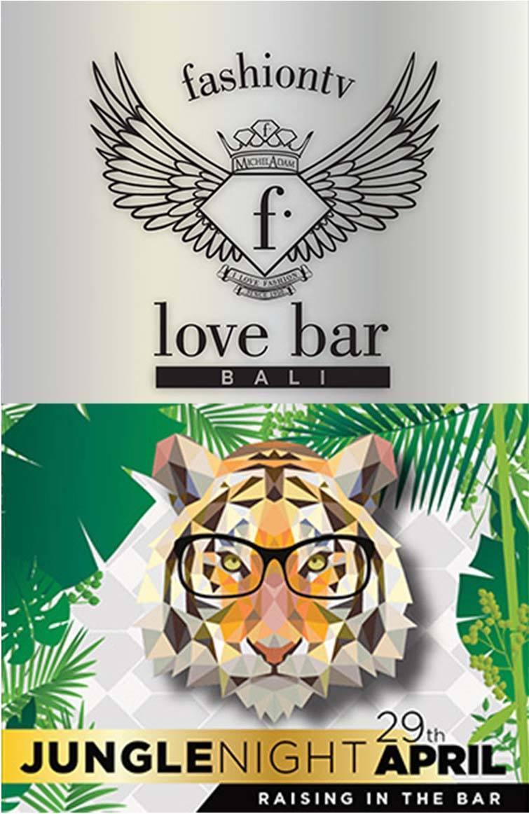 Love F Bar Jungle Night poster (April). Love F Hotel.