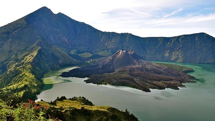 Volcano on Lombok Island