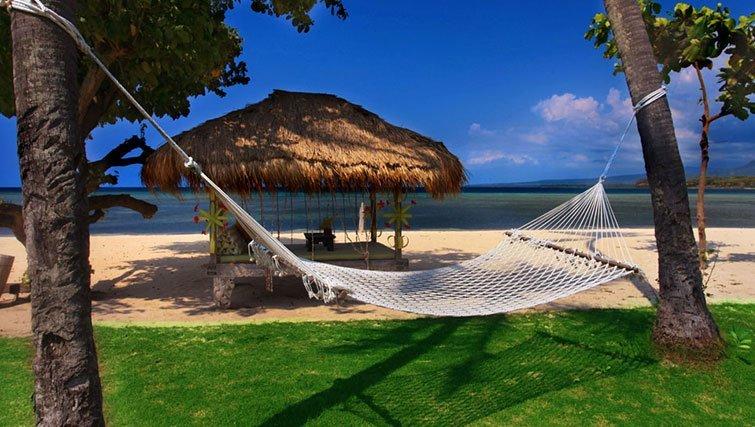 Lombok Island hammock and beach