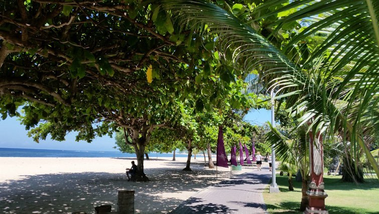Sidewalk Sanur Beach Bali