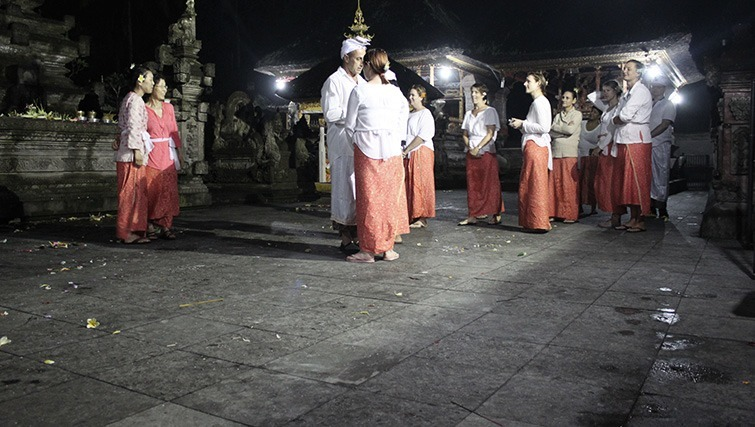 purification ceremony in Ubud