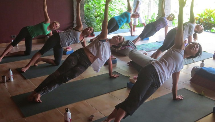 Yoga class in Ubud