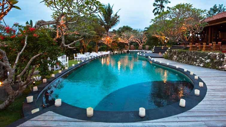 Pool area of the luxury villa in Bali Villa East Indies