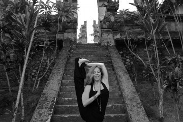 World renowned Yoga Instructor, Cristi Christen at BeingSattvaa Retreat Bali